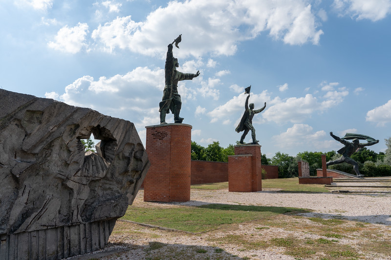 Statues at Memento Park in Budapest