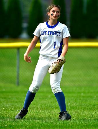 6/1/2019 Mike Orazzi | Staff Southington's Kelsey Fernandez (1) during the Class LL Quarterfinal softball game with Ridgefield at Southington High School on Saturday.