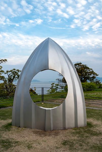 'Shipyard Works Bow with Hole' by Shinro Ohtake, Naoshima, Japan
