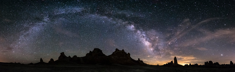 Milky Way Arch Over the Trona Pinnacles