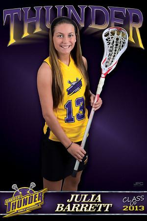 Girls Thunder Lacrosse Banners 2013