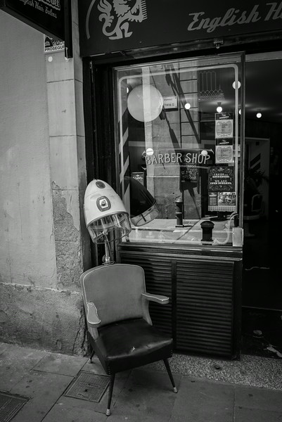 Barber Shop in El Born Neighborhood of Barcelona