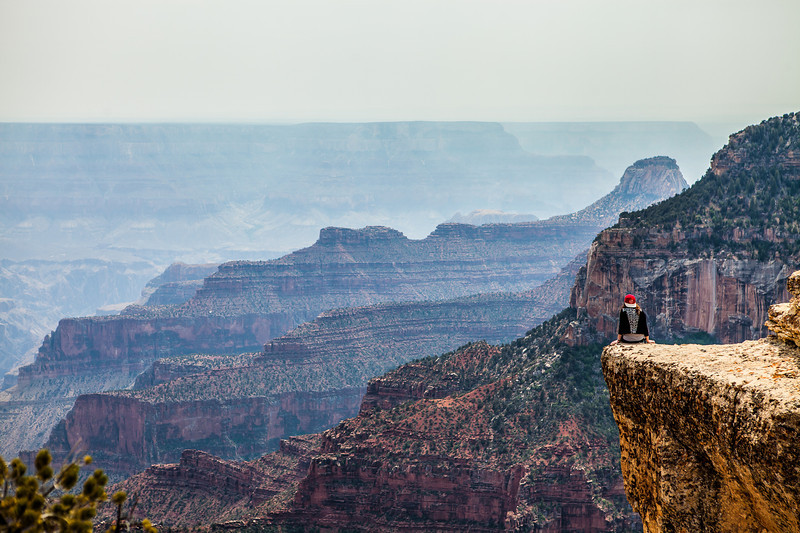 North Rim- Crazy Ledge Girl!