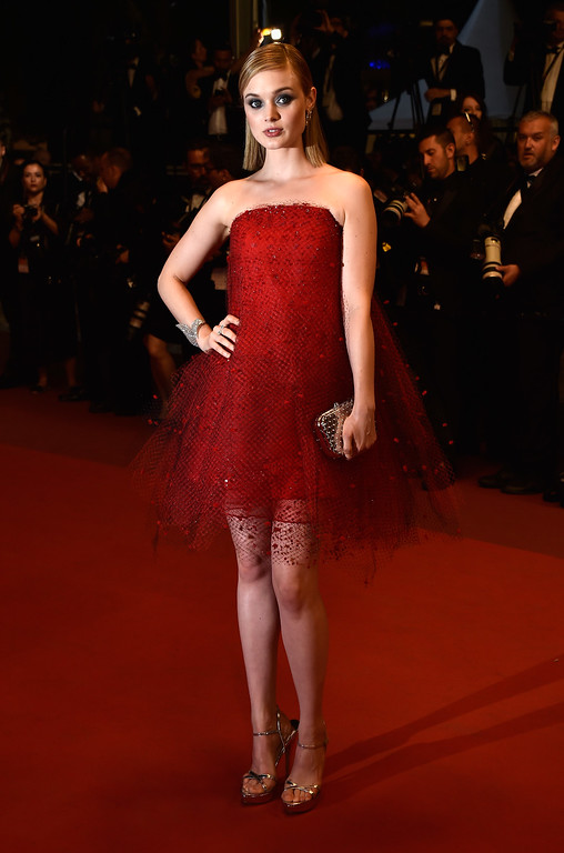 ". Actress Bella Heathcote attends ""The Neon Demon\"" Premiere during the 69th annual Cannes Film Festival at the Palais des Festivals on May 20, 2016 in Cannes, France.  (Photo by Pascal Le Segretain/Getty Images)"