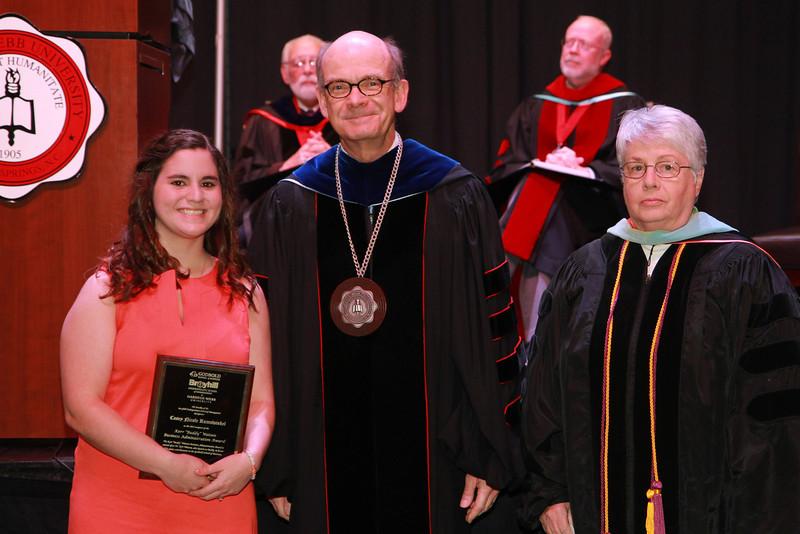 "59th Academic Awards Day; Spring 2014. Kerr ""Buddy"" Watson Business Administration Award: Casey Nicole Rumswinkel"
