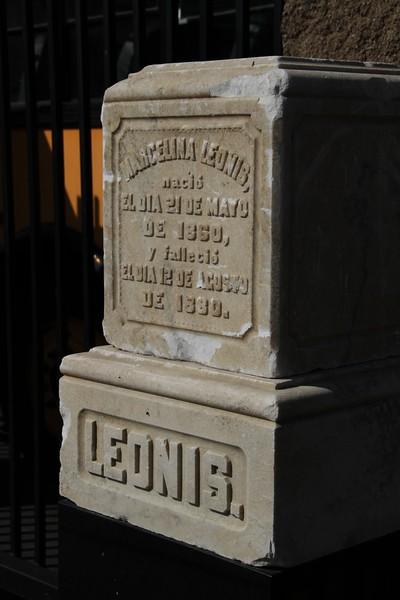 1880, Marcelina Leonis Tombstone