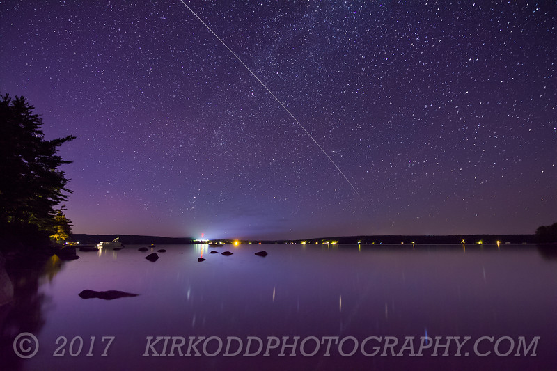 International Space Station Flies over Branch Lake - Original
