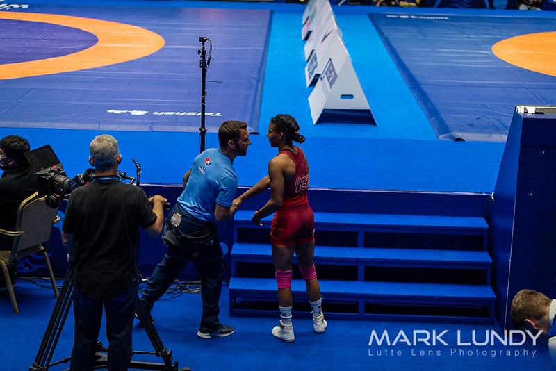 Champ. Round 2: Jacarra Gwenisha Winchester (United States) over Madina Nadirova (Kyrgyzstan)  •  TF 10-0 - 2019 World Championships