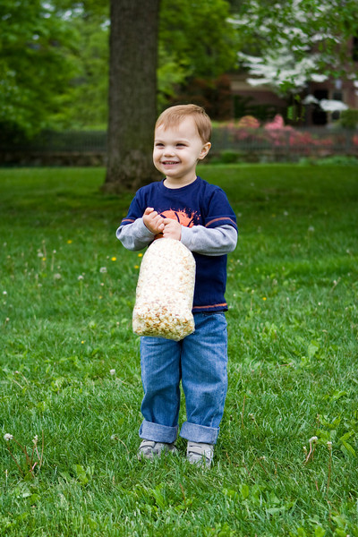 K.C. feels that the kettle corn is the best part of the Flower Show.