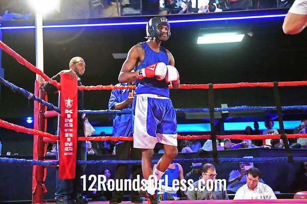 Bout #4:  Elhan Nevzadi, Blue Gloves, Bob Davis BC, Cleveland, OH  vs  Jaylin Hill, Red Gloves, Dodge Rec BC, Columbus, OH  141Lbs.