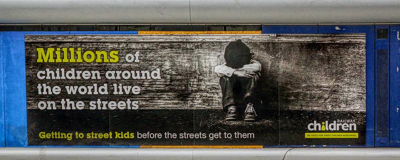 Charity Advert on The Underground