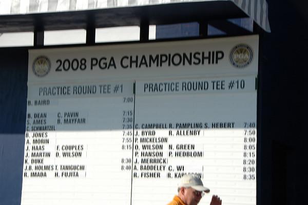 PGA Championship practice 2008