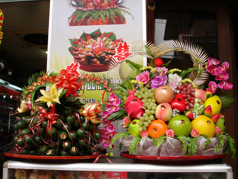 fruit table decorations, Hanoi