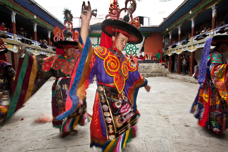 Ser Kyem dance at Chiwang Monastery during Mani Rimdu Festival.