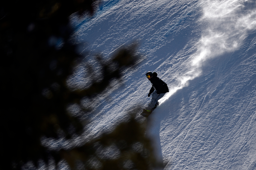 . Sage Kotsenburg during the men\'s snowboard slopestyle eliminator. X Games Aspen at Buttermilk on Thursday, January 23, 2014. (Photo by AAron Ontiveroz/The Denver Post)