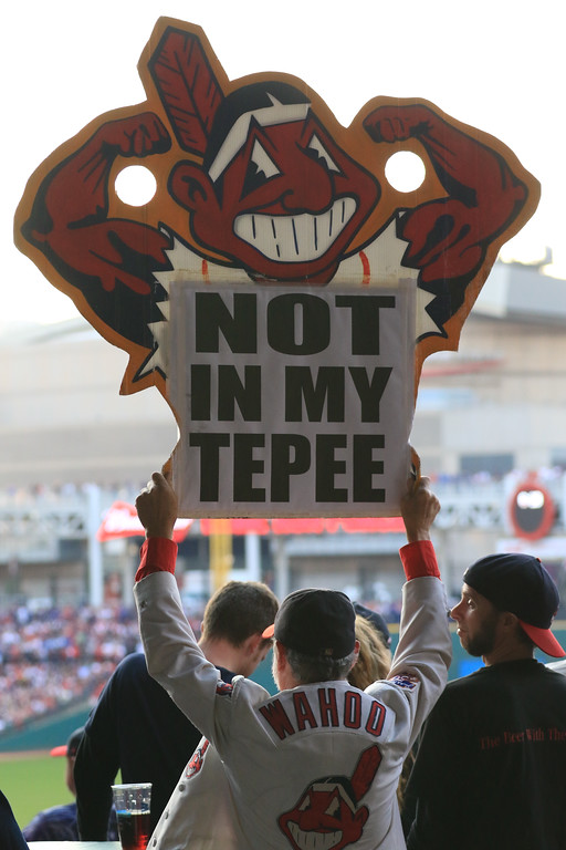 . Indians fans at Game 2 of the ALCS Oct. 15, 2016, at Progressive Field. (Tim Phillis - The News-Herald)