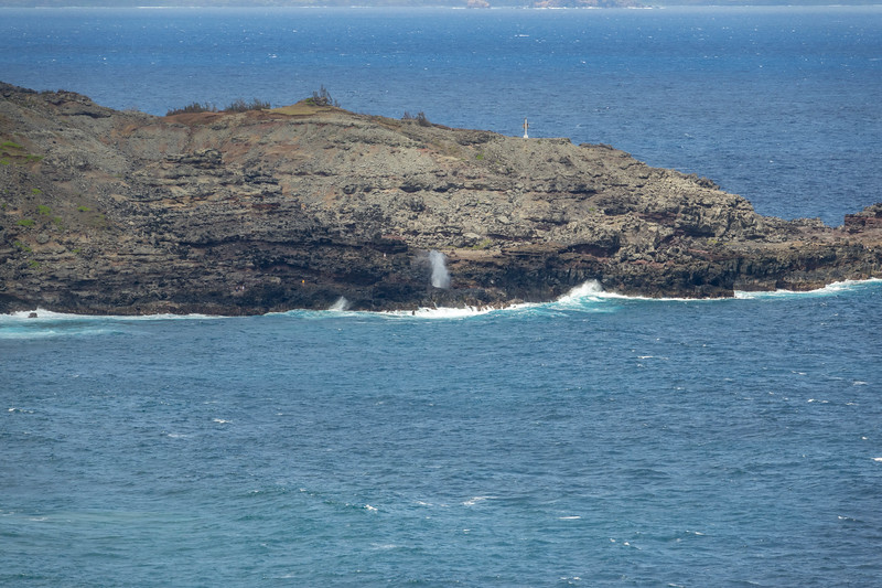 View of blowhole from distance