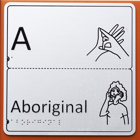 aboriginal auslan and braille panel