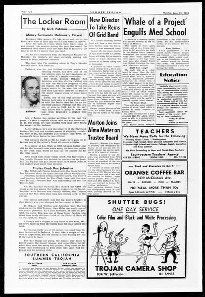 Summer Trojan, Vol. 9, No. 1, June 22, 1959