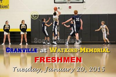 2015 Granville at Watkins-Memorial (01-20-15) Freshmen