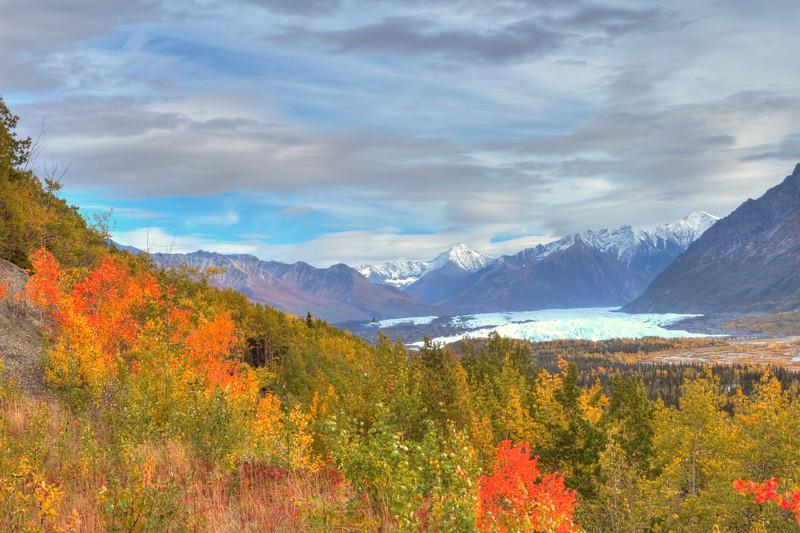 View of a glacier in Alaska