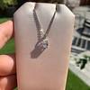 1.11ct Pear Shape Diamond Pendant GIA E VVS2 24