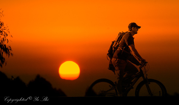 Biker at Sunset.jpg