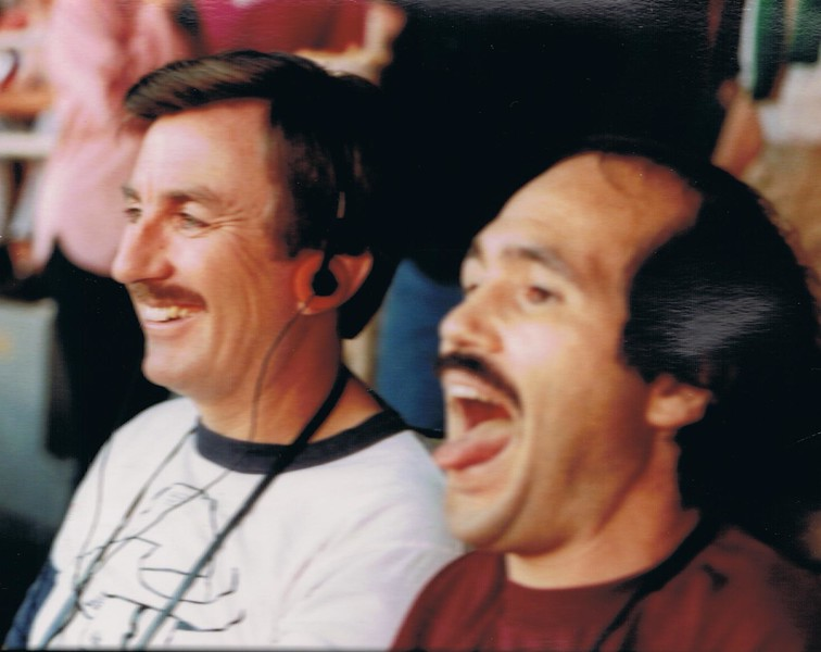 Bruz and Len at skins.jpg