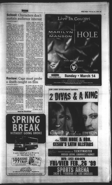 Daily Trojan, Vol. 136, No. 27, February 25, 1999