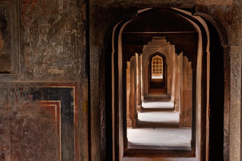 "Datia palace ( also called Satkhanda Palace or Purana Mahal or the ""Old palace""). Datia, Madhya Pradesh state, India"