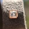 .52ctw Asscher Cut Diamond Bezel Stud Earrings, 18kt Rose Gold 5