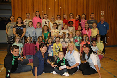 St Mary's Youth Group present cheque to Children's Cancer Unit