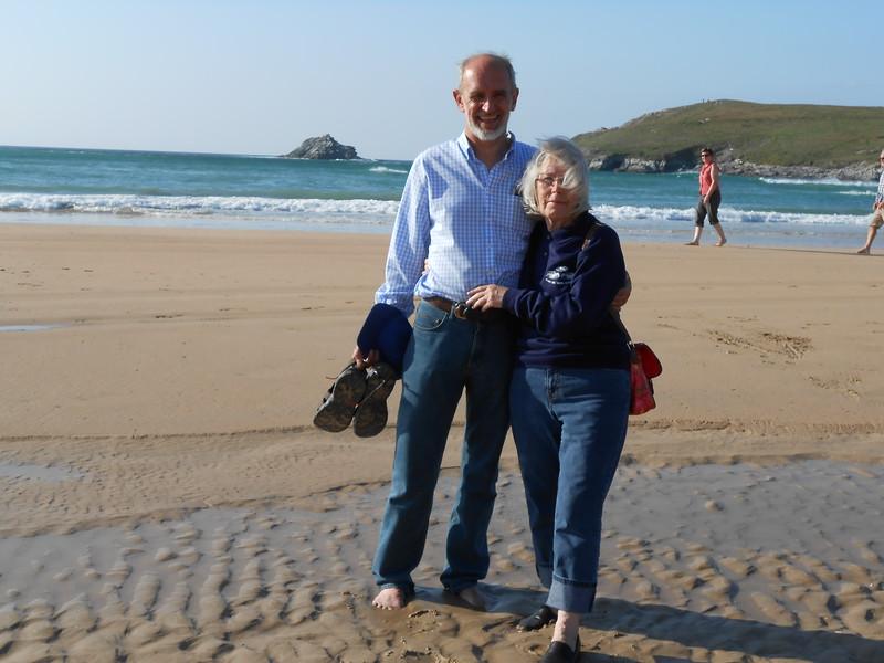 On Crantock Beach after Tea