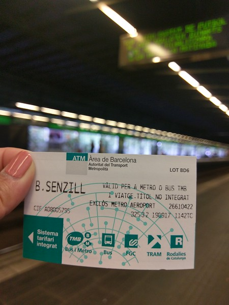 Metro cards here are one way, anywhere
