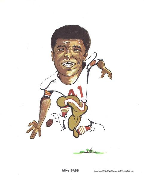 1972 Compu-Set Redskins Mike Bass