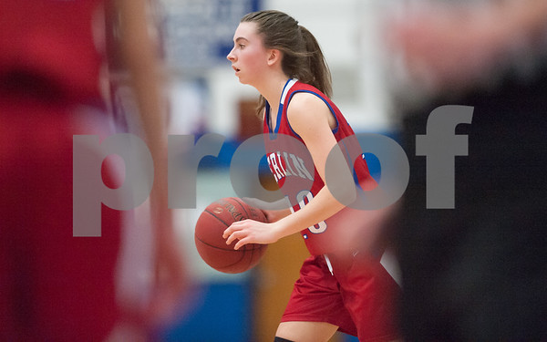 02/20/18 Wesley Bunnell   Staff Berlin girls basketball was defeated 80-50 by Enfield at Glastonbury High School on Tuesday night during the CCC tournament. Ashley Wenzel (10).