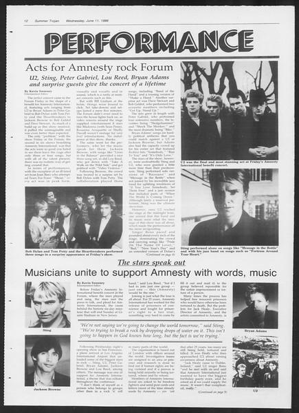 Summer Trojan, Vol. 101, No. 4, June 11, 1986