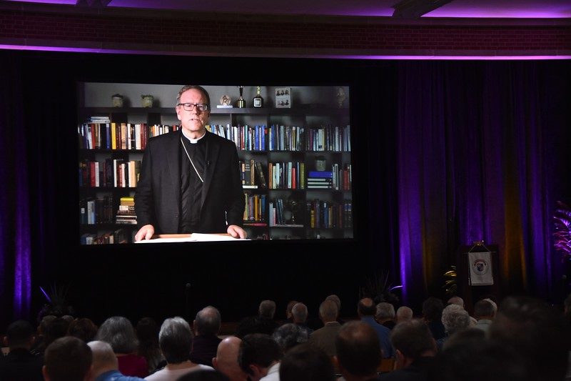 Bishop Robert Barron spoke to participants via video. His topic: Pope Francis: Reconnecting the Church to the Second Vatican Council.""