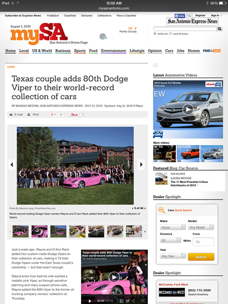 My San Antonio website
