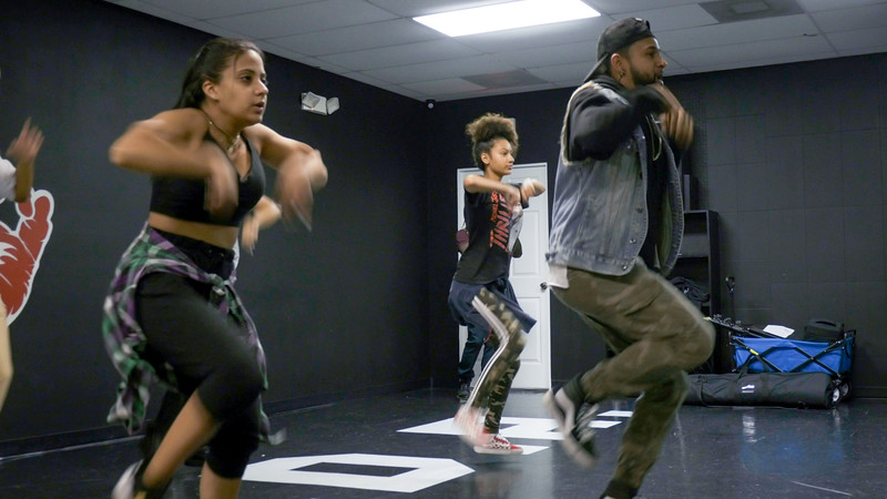Frances Bonilla, Sofia Casco learn new choreography from Jorge Dante Luna, better known as Flaco Luna, owner of Oganized Kaos Dance Academy in Lake Worth, on Tuesday, March 19, 2019. [JOSEPH FORZANO/palmbeachpost.com]