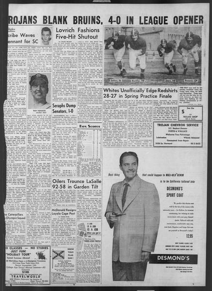 Daily Trojan, Vol. 43, No. 109, April 02, 1952