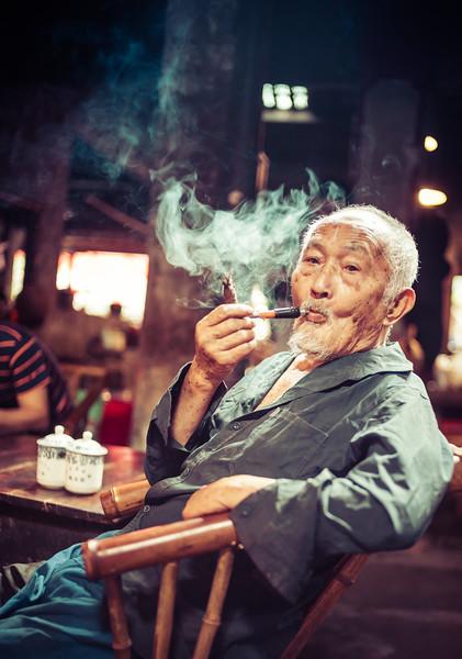 In the Chengdu Tea House