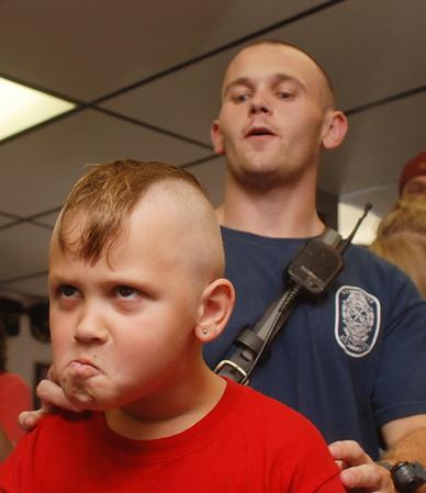 7/26/2008 Hair Cuts for Hunter Dean Scott