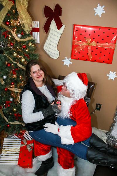I saw momma kissing Santa Clause