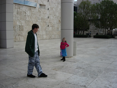 Katherine & Jackson at the Getty Museum
