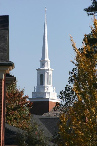 Dover Memorial Chapel on a Fall morning at Gardner-Webb University.