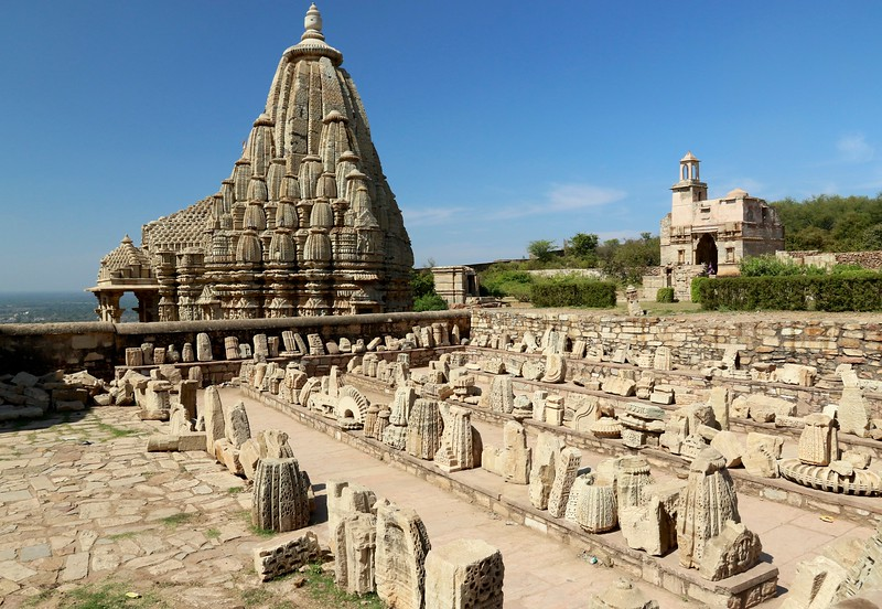 Temples and ruins at Chittorgarh Fort