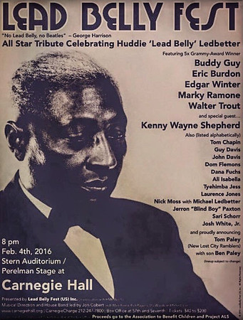 Lead Belly Fest. at Carnegie Hall / February 4, 2016