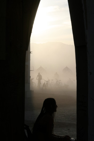 Escaping the dust in a temple nook