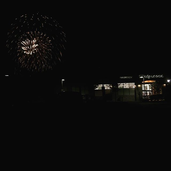 Fireworks at the end of our block behind @walgreens. The corner of happy and convenient.